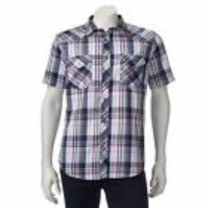 New Helix Men's Athletic-Fit Short-Sleeve Western